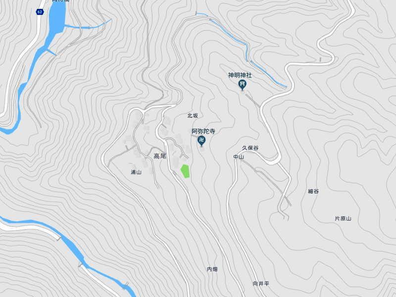 高尾(こうお)の地図
